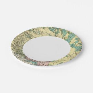 British America Paper Plate