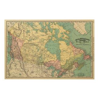 British America Wood Wall Art