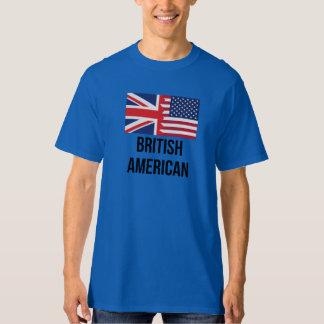 British American Flag T Shirts