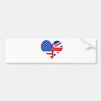 British American Heart Bumper Sticker