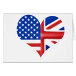 British American Heart Greeting Card