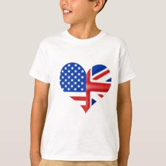 British American Heart T Shirts