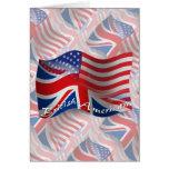 British-American Waving Flag