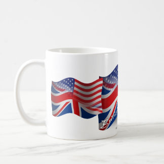 British-American Waving Flag Basic White Mug