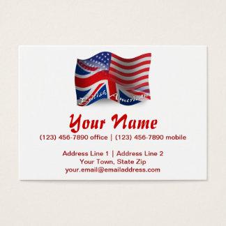 British-American Waving Flag Business Card