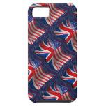 British-American Waving Flag iPhone 5 Case