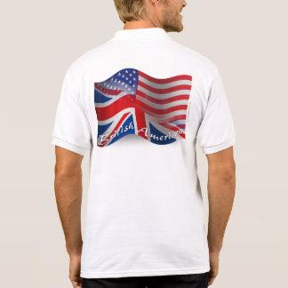British-American Waving Flag Polo Shirts
