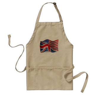 British-American Waving Flag Standard Apron