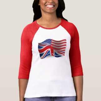 British-American Waving Flag T-Shirt