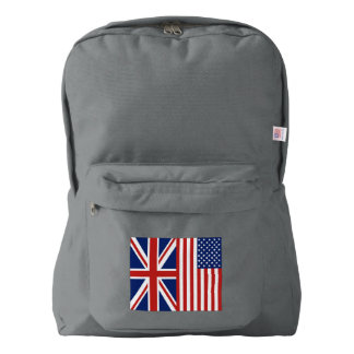 British and American Flags Backpack
