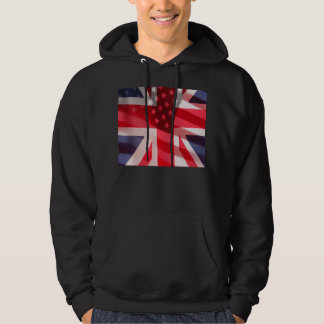 British and American flags Hoodie