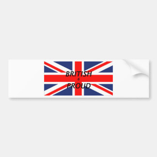 British and proud bumper sticker
