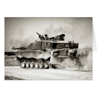 British Army Challenger 2 Main Battle Tank Greeting Card
