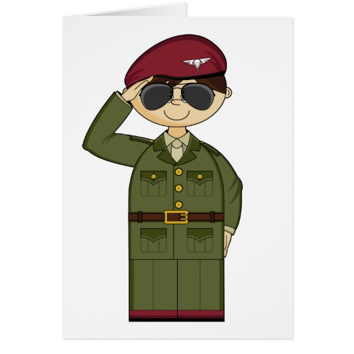 British Army Officer Saluting Card