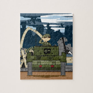 British Army Soldier and Tank Scene Jigsaw Puzzle