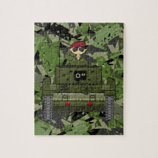 British Army Soldier in Tank Jigsaw Puzzle