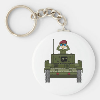British Army Soldier in Tank Keychain