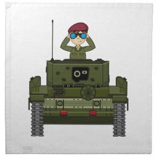British Army Soldier in Tank Napkin