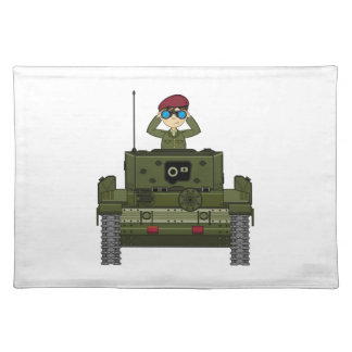 British Army Soldier in Tank Placemat