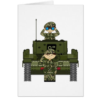 British Army Soldiers and Tank Card