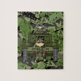 British Army Soldiers and Tank Jigsaw Puzzle