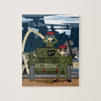 British Army Soldiers and Tank Scene Jigsaw Puzzle