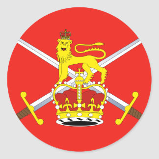 British Army, United Kingdom Classic Round Sticker