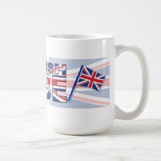 British babe basic white mug