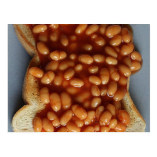 British Beans on Toast Food Joke Gift for Expat UK Postcard
