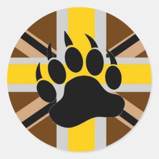 British Bear Pride Flag Round Sticker