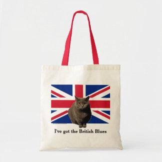 """British Blues"" tote bag, featuring Fiona"