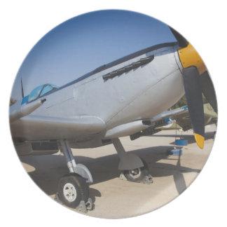 British-built Spitfire fighter Plate