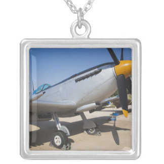 British-built Spitfire fighter Silver Plated Necklace