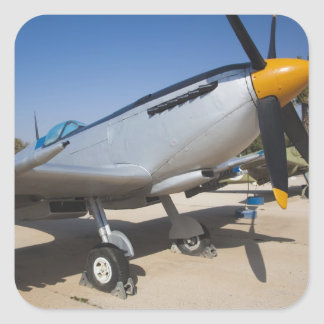 British-built Spitfire fighter Square Sticker