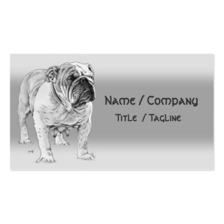 British Bulldog Pack Of Standard Business Cards