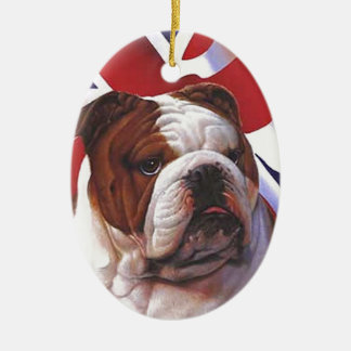 BRITISH BULLDOG CHRISTMAS ORNAMENT