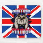 British Bulldog Mousemat Mousepad, Union Jack
