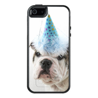 British Bulldog Puppy Wearing A Party Hat OtterBox iPhone 5/5s/SE Case