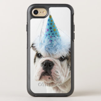 British Bulldog Puppy Wearing A Party Hat OtterBox Symmetry iPhone 8/7 Case