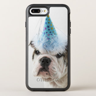 British Bulldog Puppy Wearing A Party Hat OtterBox Symmetry iPhone 8 Plus/7 Plus Case