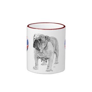 British Bulldog Ringer Mug