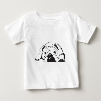 British Bulldog Stencil Baby T-Shirt