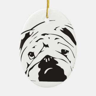 British Bulldog Stencil Christmas Ornament