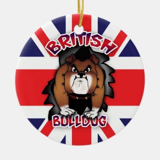 British Bulldog - Union Jack - Ornament