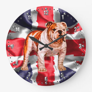 British Bulldog Wall Clock