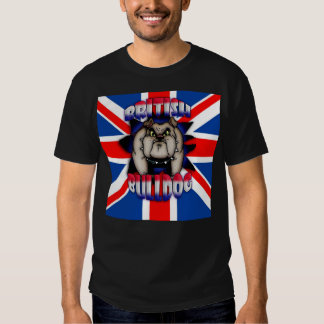 British Bulldog with Union Jack T-Shirt