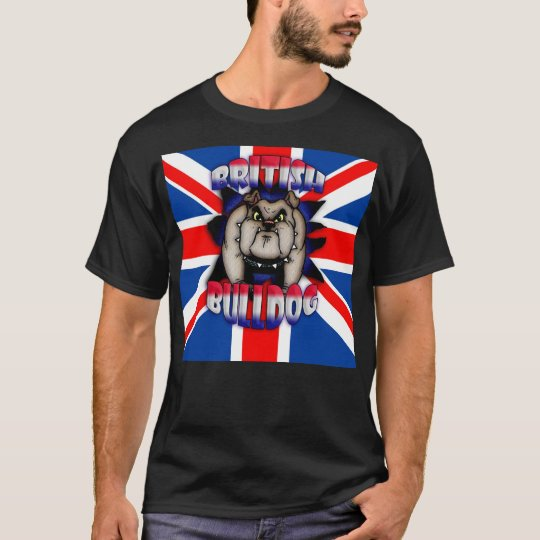 British Bulldog with Union Jack T-Shirt