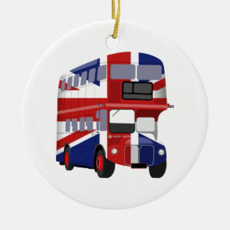 British Bus Christmas Ornament