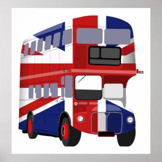 British Bus Poster
