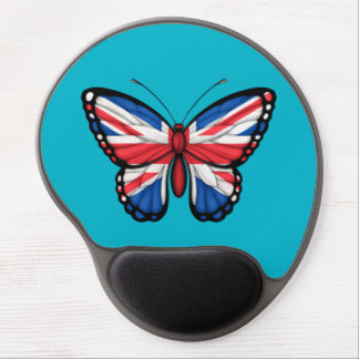 British Butterfly Flag Gel Mouse Pads